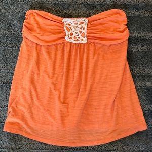 Maurices Orange strapless top
